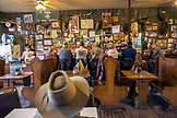 USA, Oregon, Imnaha, Cowboys Todd Nash and Cody Ross have lunch at the Imnaha Store and Tavern, Northeast Oregon
