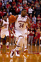 05 December 2010: Nebraska Cornhuskers guard Lance Jeter (34) dribbles the ball down court against the Creighton Bluejays at the Devaney Sports Center in Lincoln, Nebraska. Nebraska defeated Creighton 59 to 54.