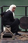 KOMAN - ALBANIA - 19 JUNE 1998 -- Old woman on the ferry to Fierze. -- PHOTO: JUHA ROININEN / EUP-IMAGES