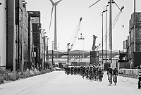 race start in the Antwerp Harbour <br /> <br /> 92nd Schaal Sels 2017 <br /> 1 Day Race: Merksem > Merksem (188km)
