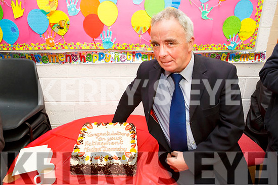 Brendan Dennehy, principal of Joseph's NS, Castlemaine celebrates his retirement after 36 years service 17 as principal on Friday
