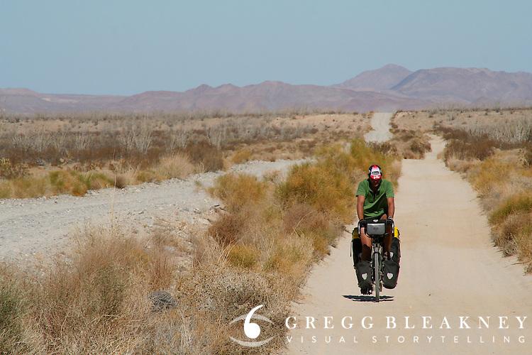 Brook Allen cycles along Baja California Backroad - Mexico