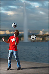 Illustration Euro 2008 a Geneve.