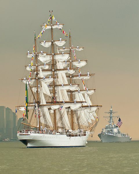"Cisne Branco - which means ""White Swan"" in Portuguese.She was built in the Netherlands by Stocheepswerf Damen, commissioned as a Brazilian naval vessel in 2000."