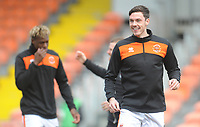 Blackpool's Ben Heneghan during the pre-match warm-up <br /> <br /> Photographer Kevin Barnes/CameraSport<br /> <br /> The EFL Sky Bet League One - Blackpool v Plymouth Argyle - Saturday 30th March 2019 - Bloomfield Road - Blackpool<br /> <br /> World Copyright © 2019 CameraSport. All rights reserved. 43 Linden Ave. Countesthorpe. Leicester. England. LE8 5PG - Tel: +44 (0) 116 277 4147 - admin@camerasport.com - www.camerasport.com