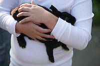Hope holds her rabbit. NW Washington Fair. August 16, 2009 PHOTOS BY MERYL SCHENKER            ....schenker IMG_0377.JPG