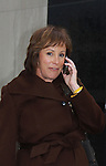 One Life To Live's Hillary B. Smith appears on the View, New York City, New York after 43 years on air and are photographed on their way out on January 12, 1212. (Photo by Sue Coflin/Max Photos)