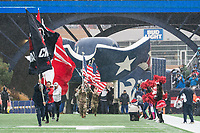 FOXBOROUGH, MA - OCTOBER 27: Patriots flag bearers during a game between Cleveland Browns and New Enlgand Patriots at Gillettes on October 27, 2019 in Foxborough, Massachusetts.