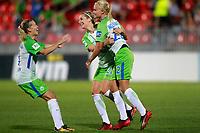 VfL Wolfsburg's Lara Dickenmann, Lena Goessling and Pernille Harden celebrate goal during UEFA Womens Champions League 2017/2018, 1/16 Final, 1st match. October 4,2017. (ALTERPHOTOS/Acero) /NortePhoto.com /NortePhoto.com