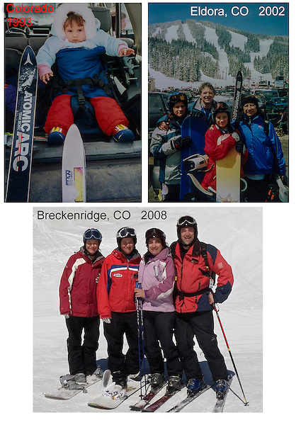 Early family ski trips, Colorado.