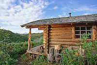 Log cabin, Denali National Park, Alaska.