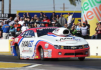 Feb. 22, 2013; Chandler, AZ, USA; NHRA pro stock driver Greg Stanfield during qualifying for the Arizona Nationals at Firebird International Raceway. Mandatory Credit: Mark J. Rebilas-