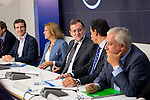 The left to the right, Pablo Casado Blanco, Maria Dolores de Cospedal, Mariano Rajoy and Javier Arenas during the meeting of the National Executive Committee of the Partido Popular (PP) in Madrid, Spain, November 05, 2015. <br /> (ALTERPHOTOS/BorjaB.Hojas)