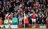 Edward 'Eddie'  Nketiah of Arsenal celebrates his winning goal during the Carabao Cup match between Arsenal and Norwich City at the Emirates Stadium, London, England on 24 October 2017. Photo by Carlton Myrie.