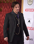 Johnny Depp attends The Mortdecai Los Angeles Premiere held at The TCL Chinese Theater  in Hollywood, California on January 21,2015                                                                               © 2015 Hollywood Press Agency