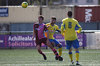 Konstantinos Alexandrou of Haringey and Ollie Sitch during Haringey Borough vs Corinthian Casuals, BetVictor League Premier Division Football at Coles Park Stadium on 10th August 2019
