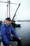 Peter Matthiessen during book fair in Saint Malo in 1992.