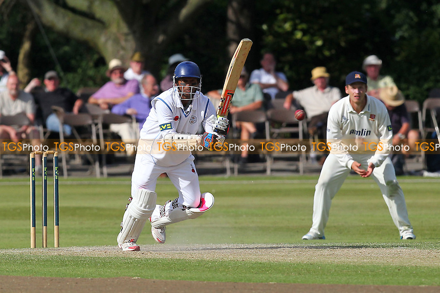 Shivnarine Chanderpaul in batting action for Derbyshire - Derbyshire CCC vs Essex CCC - LV County Championship Division Two Cricket at Queen's Park, Chesterfield - 09/07/14 - MANDATORY CREDIT: Gavin Ellis/TGSPHOTO - Self billing applies where appropriate - 0845 094 6026 - contact@tgsphoto.co.uk - NO UNPAID USE