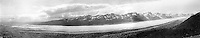 July 14, 1911, 3:15 PM, Panorama of of the Kahiltna Glacier from spur between Granite and Hidden Creeks, Denali National Park and Preserve, Alaska, United States.  Image is composed of three images taken by Stephen Ried Capps, (images 308, 309, and 310).  Ron Karpilo scanned the images and digitally stitched them together.