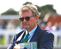 Trainer Mark Johnston during Horse Racing at Salisbury Racecourse on 15th August 2019