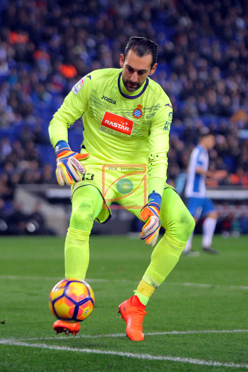 League Santander 2016/2017. Game: 22.<br /> RCD Espanyol vs Real Sociedad: 1-2.<br /> Diego Lopez.