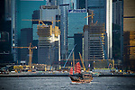 Hong Kong, Harbour, Harbor, Skyline, Ferries, Boats
