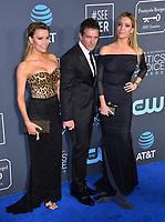 SANTA MONICA, CA. January 13, 2019: Antonio Banderas, Nicole Kimpel &amp; Barbara Kimpel at the 24th Annual Critics' Choice Awards in Santa Monica.<br /> Picture: Paul Smith/Featureflash