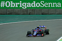 15th November 2019; Autodromo Jose Carlos Pace, Sao Paulo, Brazil; Formula One Brazil Grand Prix, Practice Day; Pierre Gasly (FRA) Red Bull Racing RB15 - Editorial Use