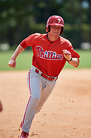 GCL Phillies right fielder Ben Pelletier (26) runs the bases during a game against the GCL Tigers East on July 25, 2017 at TigerTown in Lakeland, Florida.  GCL Phillies defeated the GCL Tigers East 4-1.  (Mike Janes/Four Seam Images)