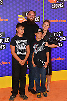 Travis Browne, Ronda Rousey, Keawe Browne &amp; Kaleo Browne at the Nickelodeon Kids' Choice Sports Awards 2018 at Barker Hangar, Santa Monica, USA 19 July 2018<br /> Picture: Paul Smith/Featureflash/SilverHub 0208 004 5359 sales@silverhubmedia.com