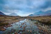 The River Silgachan in the Cuillins on the Isle of Skye, the 'Land of the Eagles'