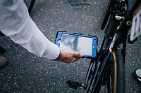 UCI commisaire with a mechanical doping scanners at work before the stage<br /> <br /> stage 20: Susa - Cervinia (214km)<br /> 101th Giro d'Italia 2018