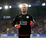 Kasper Schmeichel of Leicester City during the English Premier League match at Goodison Park Stadium, Liverpool. Picture date: April 9th 2017. Pic credit should read: Simon Bellis/Sportimage