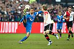 Nederland, Rotterdam, 27 januari  2013.Eredivisie.Seizoen 2012/2013.Feyenoord-FC Twente.Nacer Chadli van FC Twente in actie duel om de bal met Ruud Vormer van Feyenoord