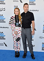 SANTA MONICA, CA. February 23, 2019: Riley Keough &amp; Ben Smith-Petersen at the 2019 Film Independent Spirit Awards.<br /> Picture: Paul Smith/Featureflash