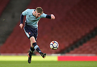 Blackpool U18's Dylan Sumner<br /> <br /> Photographer Andrew Kearns/CameraSport<br /> <br /> Emirates FA Youth Cup Semi- Final Second Leg - Arsenal U18 v Blackpool U18 - Monday 16th April 2018 - Emirates Stadium - London<br />  <br /> World Copyright &copy; 2018 CameraSport. All rights reserved. 43 Linden Ave. Countesthorpe. Leicester. England. LE8 5PG - Tel: +44 (0) 116 277 4147 - admin@camerasport.com - www.camerasport.com