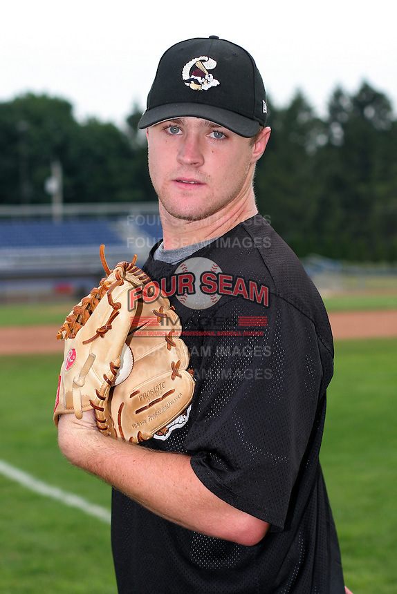 Williamsport Crosscutters Patrick Bresnahan poses for a photo before a NY-Penn League game at Dwyer Stadium on July 3, 2006 in Batavia, New York.  (Mike Janes/Four Seam Images)