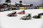 Members of the Outlaw 600 class race at the 2014 World Championship Snowmobile Derby in Eagle River, Jan. 19.