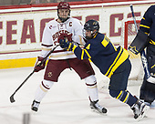 Chris Calnan (BC - 11), Marc Biega (Merrimack - 4) - The visiting Merrimack College Warriors defeated the Boston College Eagles 6 - 3 (EN) on Friday, February 10, 2017, at Kelley Rink in Conte Forum in Chestnut Hill, Massachusetts.