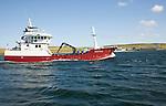 Gerda Saele boat at sea, Bressay Sound, Shetland Islands, Scotland