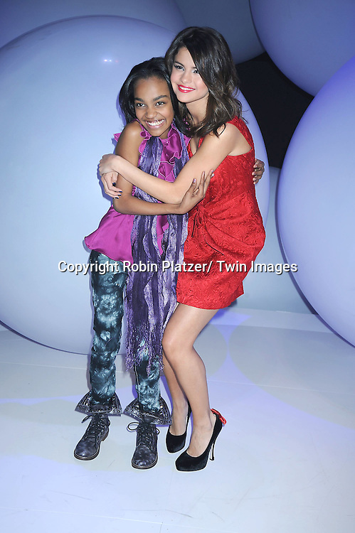 "China Anne McClain  of ""Ant Farm"" and Selena Gomez attending The Disney Kids and Family Upfront 2011-2012  on March 16, 2011 at Gotham Hall in New York City."