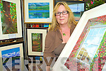Killarney artist Deborah O'Keeffe, who held an art exhibition in the Bank of Ireland branch in Killarney on Monday.