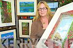 Killarney artist Deborah O'Keeffe, who held an art exhibition in the Bank of Ireland branch in Killarney on Monday.