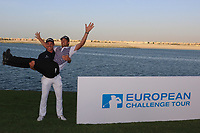 Grant Forrest (SCO), Victor Perez (FRA) during the final round of the Ras Al Khaimah Challenge Tour Grand Final played at Al Hamra Golf Club, Ras Al Khaimah, UAE. 03/11/2018<br /> Picture: Golffile | Phil Inglis<br /> <br /> All photo usage must carry mandatory copyright credit (&copy; Golffile | Phil Inglis)