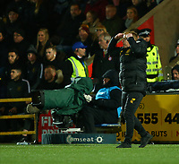 4th March 2020; Almondvale Stadium, Livingston, West Lothian, Scotland; Scottish Premiership Football, Livingston versus Celtic; Celtic Manager Neil Lennon instructs his players to keep their head after the late equaliser