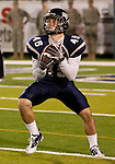 November 12, 2011:Nevada's Kendall Brock returns a kick in the first quarter during a WAC league game vs Hawaii played at Mackay Stadium in Reno, Nevada.