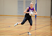 13.12.2017 Katrina Grant in action during traning at the Silver Ferns trails in Auckland. Mandatory Photo Credit ©Michael Bradley.