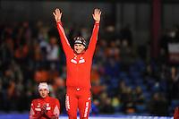 SCHAATSEN: HEERENVEEN: IJsstadion Thialf, 12-01-2013, Seizoen 2012-2013, Essent ISU EK allround, podium 1500m Men, Konrad Niedzwiedzki (POL), ©foto Martin de Jong