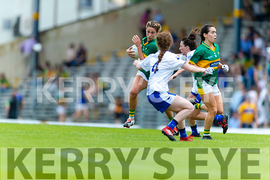 Amanda Brosnan Kerry in action against  Waterford in the TG4 Munster Senior Ladies Football Championship semi-final match between Kerry and Waterford at Fitzgerald Stadium in Killarney on Sunday.