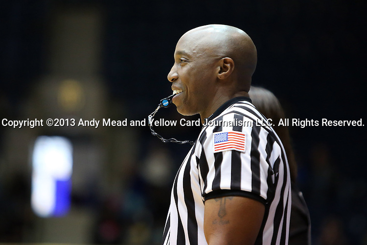 27 January 2013: Referee Kevin Dillard. The Duke University Blue Devils played the Boston College Eagles at Cameron Indoor Stadium in Durham, North Carolina in an NCAA Division I Women's Basketball game. Duke won the game 80-56.